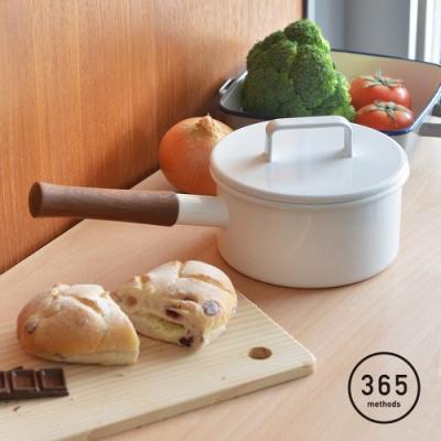 日本365methods 單柄附蓋琺瑯牛奶鍋(1.7L)-16cm