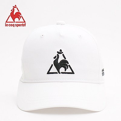 le coq sportif 法國公雞牌側邊字母印花運動鴨舌帽  男-白