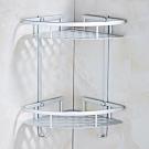 AA015 太空鋁扇形雙層置物架帶勾 轉角層架 廚房衛浴衛生間置物架 浴室化妝收納架置物籃