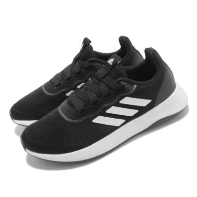 adidas 慢跑鞋 QT Racer Sport 女鞋 愛迪達 路跑 緩震 基本款 百搭 黑 白 FY5680