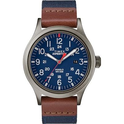 TIMEX天美時 遠征系列探險手錶40mm (藍/咖啡 TXTW4B14100)