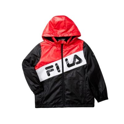 FILA KIDS 童舖棉外套-黑 1JKT-8405-BK
