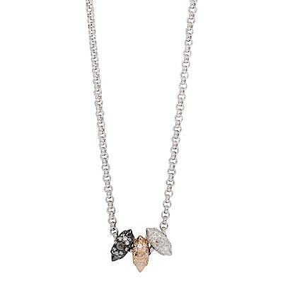 apm MONACO法國精品珠寶 閃耀銀色鑲鋯 Hérisson項鍊