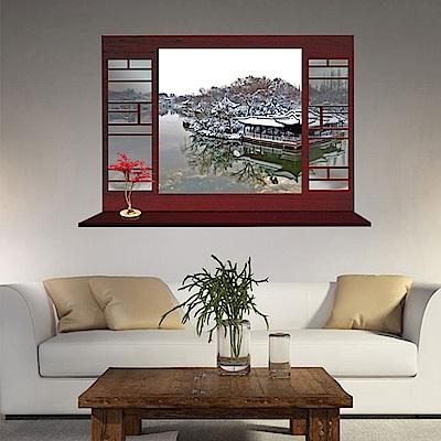 半島良品 DIY無痕壁貼-冬天 MJ8018B 60x90cm