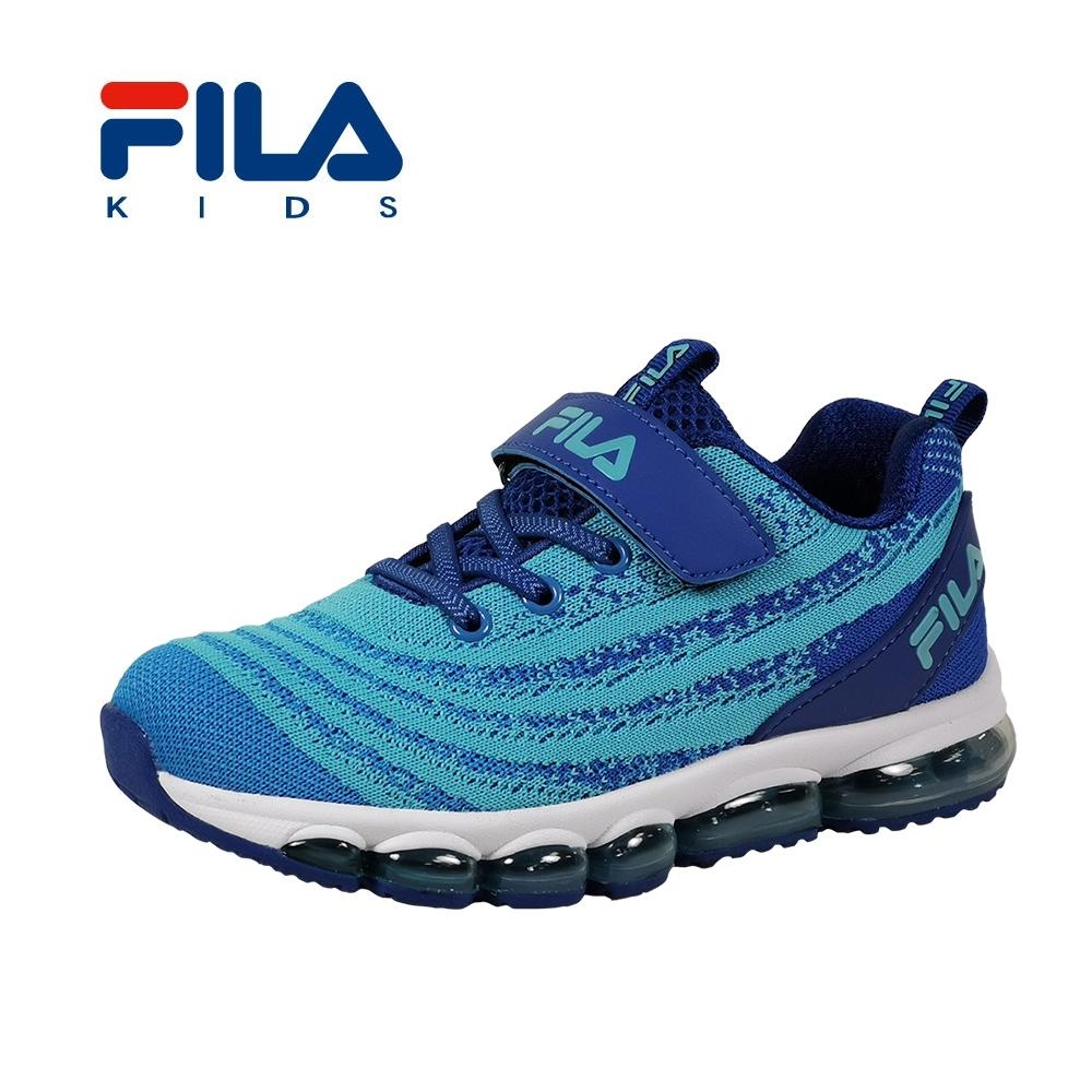 FILA 氣墊慢跑鞋 藍 大童(6~12歲) 3-J813T-313