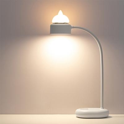 貓咪檯燈+小夜燈 雙光源 三段調光 USB充電