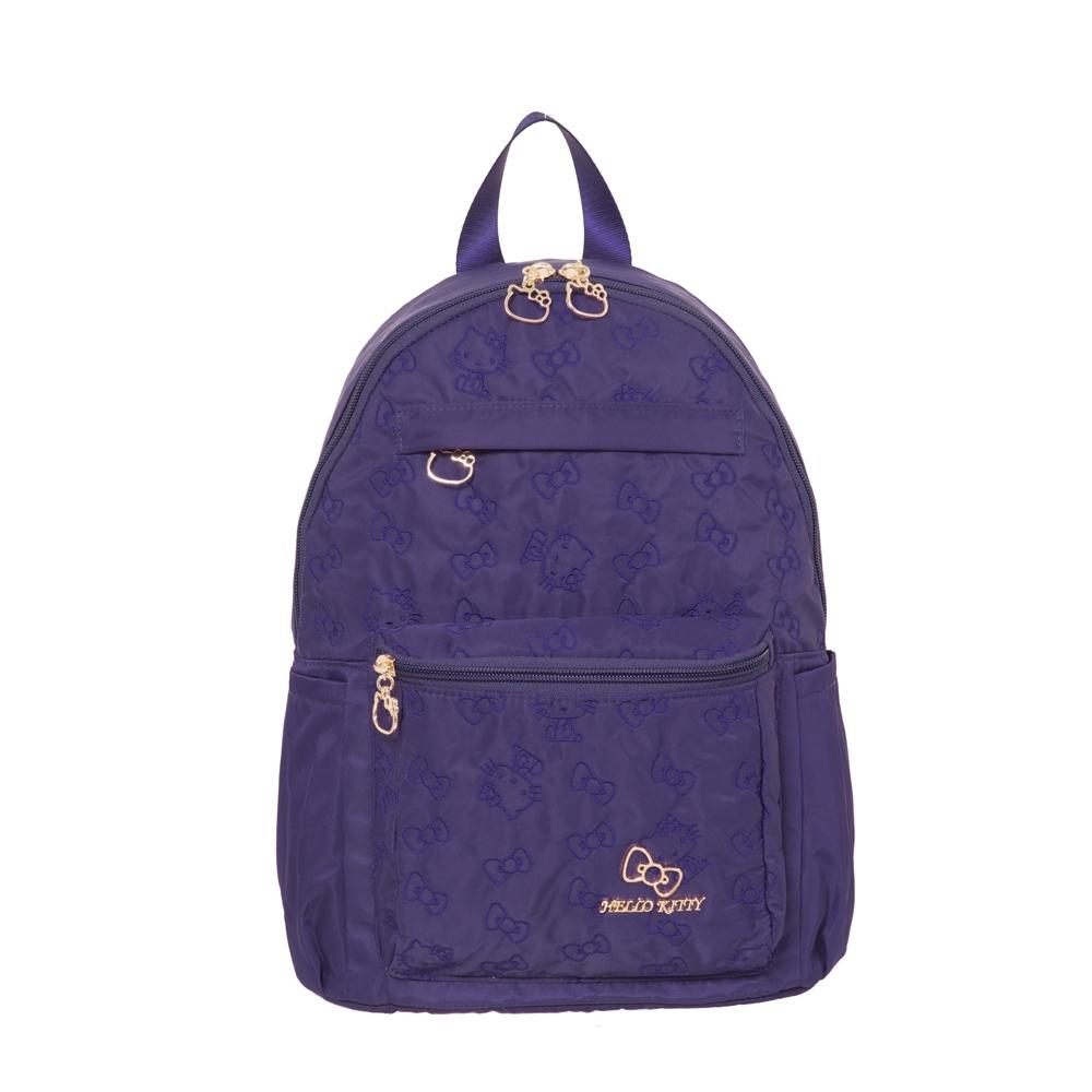 【Hello Kitty】快意之旅-後背包(中)-紫 KT01R02PL