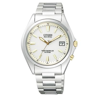 CITIZEN 詮釋自我光動能電波腕錶-白金-38mm
