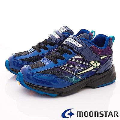 日本月星頂級競速童鞋 3E閃電系列 EI868藍(中大童段)