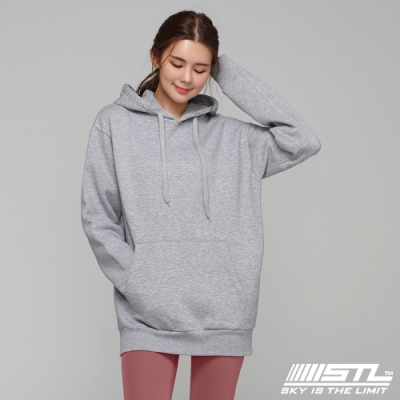 STL YOGA 韓國瑜珈 METRO SEMI overfit hoodie 運動休閒 純色連帽刷毛重磅大帽T 氣質灰MelrangeGrey