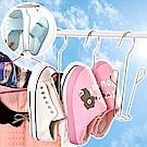 EZlife不銹鋼晾鞋架6入組(贈長短兩用靴撐)