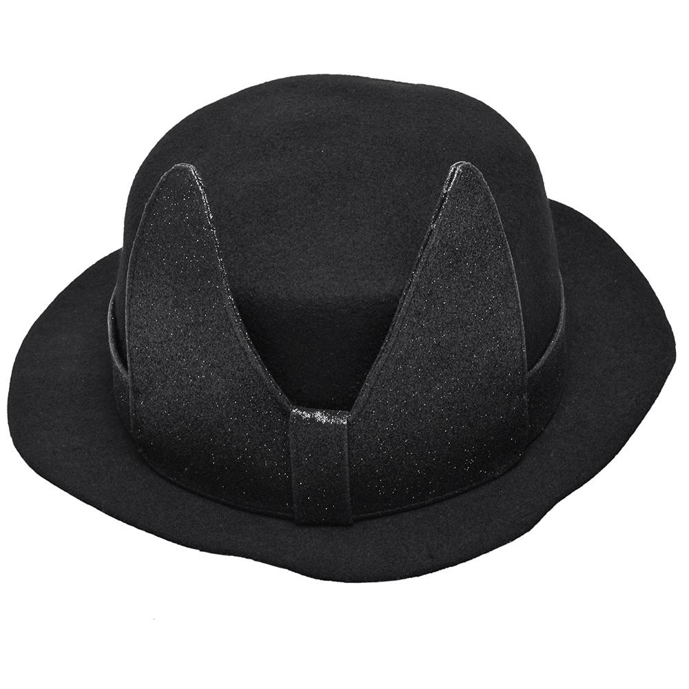 KARL LAGERFELD 亮粉大蝴蝶結造型圓禮帽(M-黑)