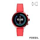 FOSSIL SPORT 運動智能錶-41MM 紅色矽膠 FTW6027