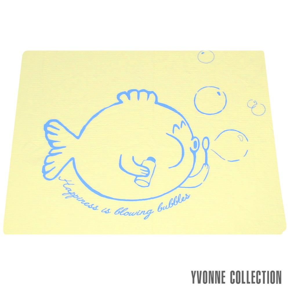 YVONNE COLLECTION 泡泡魚單人薄紗被(5x7呎)-嫩黃 @ Y!購物