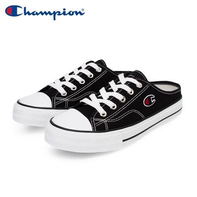 【Champion】女 帆布鞋 穆勒鞋 CANVAS SLIP-黑(WSLS-1014-10)