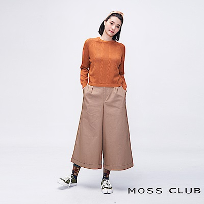 MOSS CLUB INLook 九分奶奶喇叭寬褲(卡色)