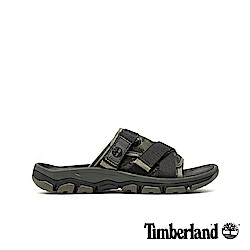 Timberland 男款深綠色迷彩拖鞋|A1ZSF