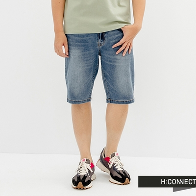 H:CONNECT 韓國品牌 男裝-水洗個性牛仔短褲