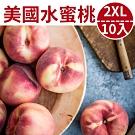 [甜露露]加州水蜜桃2XL 10入禮盒