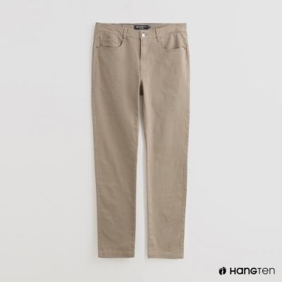 Hang Ten - 男裝 - 純色雙口袋休閒長褲 - 卡其