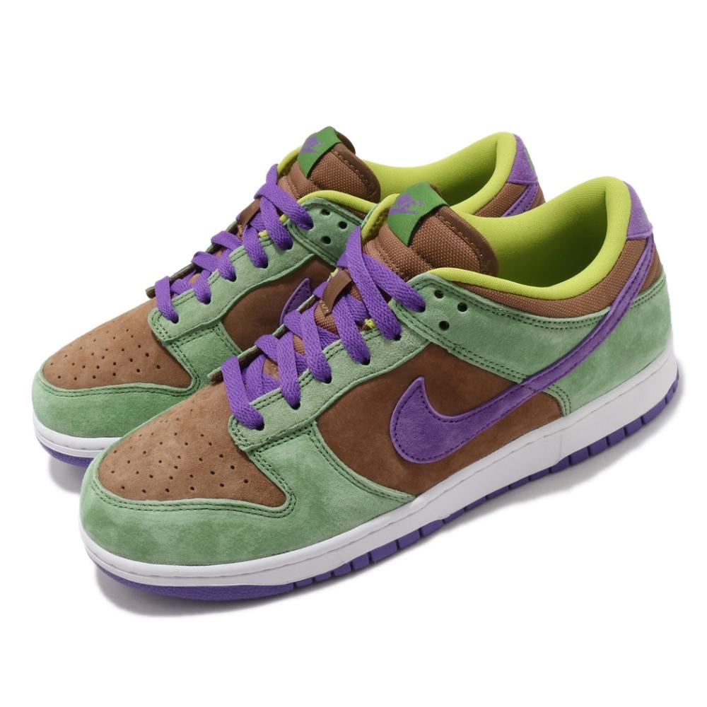 Nike 滑板鞋 Dunk Low SP 運動 男女鞋 基本款 簡約 質感 球鞋 情侶穿搭 綠 紫 DA1469200