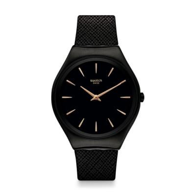 Swatch 超薄金屬系列 SKIN NOTTE 超薄金屬-消光黑-38mm