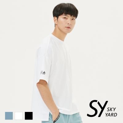 【SKY YARD 天空花園】休閒寬版圓領T恤-白色