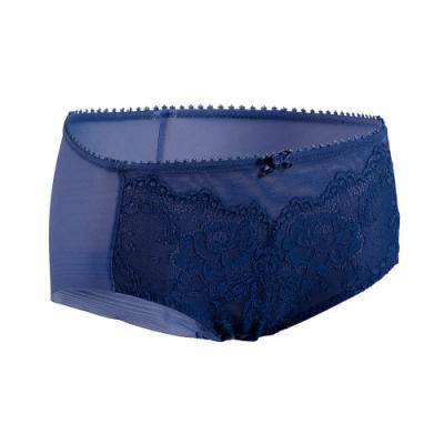 黛安芬-Premium Collection無痕款平口內褲 M-EL 印象藍