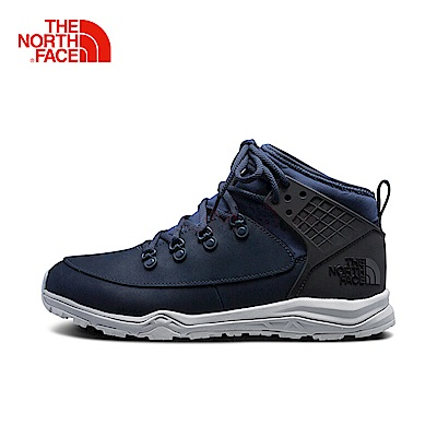 The North Face北面男款藍色抓地緩震徒步鞋