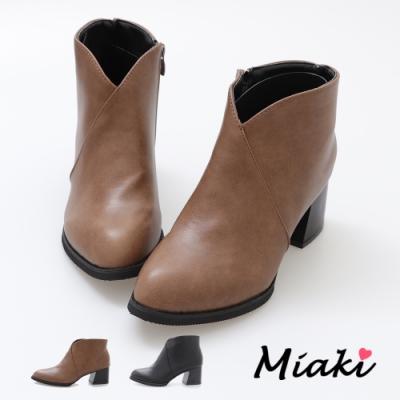 Miaki-短靴-暢銷韓風V字尖頭踝靴