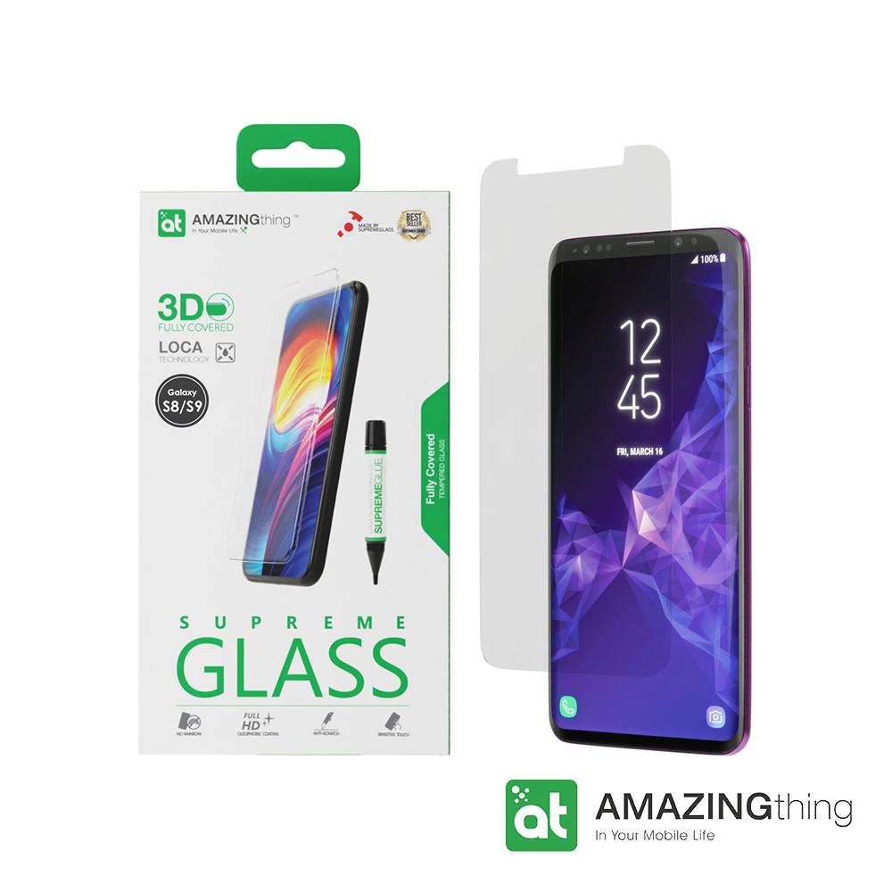 AMAZINGthing 三星 Galaxy S9/S8 滿版強化玻璃保護貼(LOCA)