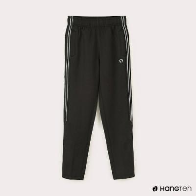 Hang Ten-男童-恆溫多功能-鬆緊抗起球溫暖運動長褲-黑色