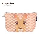 【COQENPATE】法國有機棉無毒環保化妝包 / 筆袋- 畫筆兒的家 - 兔子