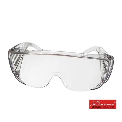 【Docomo】防疫首選 防飛沫飛濺 最大型全透明護目鏡 抗UV400 一體成型 2入