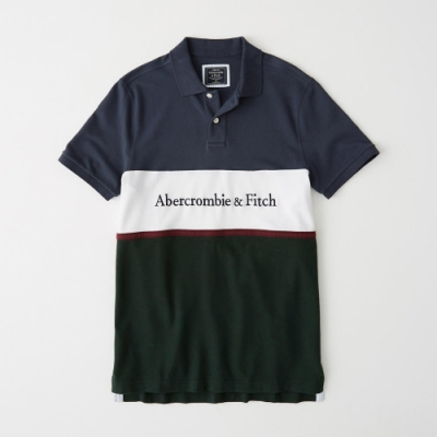 AF Abercrombie & Fitch A&F 短袖POLO 黑色 1340