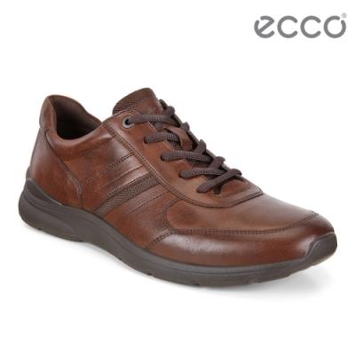 ECCO IRVING 質感舒適皮革休閒鞋 男鞋-棕色