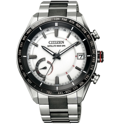 CITIZEN星辰GPS衛星對時鈦金屬手錶(CC3085-51A)