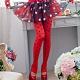 聖誕襪 可愛點點褲襪 紅色褲襪不透膚造型性感絲襪 流行E線 product thumbnail 1