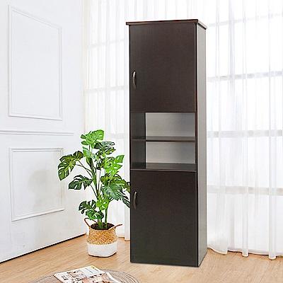Boden-防潮防蛀塑鋼1.5尺二門開放鞋櫃(五色可選)-44x34x180cm