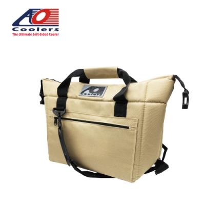 【AO Coolers】酷冷軟式輕量保冷托特包-12罐型 -經典帆布CANVAS系列 沙色