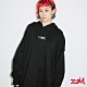 X-girl EMBROIDERED MILLS LOGO HOODIE R&D連帽上衣-黑 product thumbnail 1