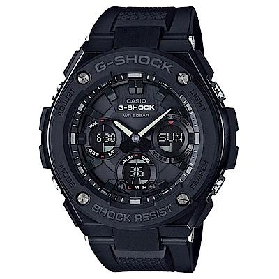 G-SHOCK絕對強悍分層防護構造防震概念休閒錶(GST-S 100 G- 1 B)-黑框X黑 53