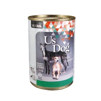 SEEDS聖萊西 Us Dog愛犬主食餐罐 (小牛肉&蔬菜風味) 400g