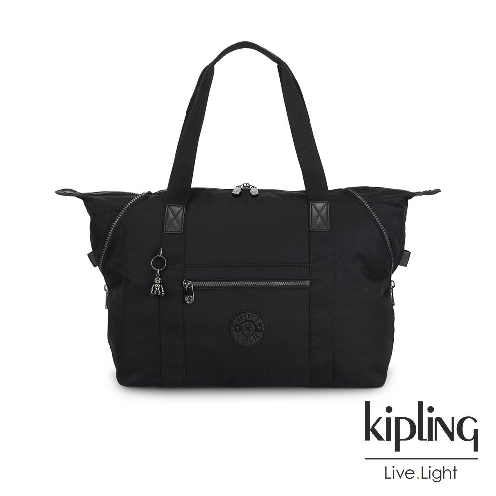 Kipling 極致低調黑手提側背包-ART M