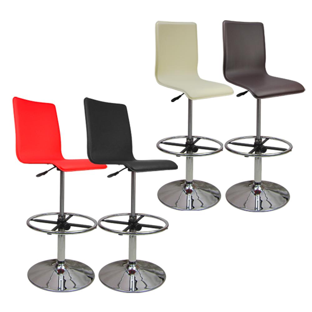 優質歐式高腳馬鞍皮革事務椅 電腦椅 吧台椅(四色)