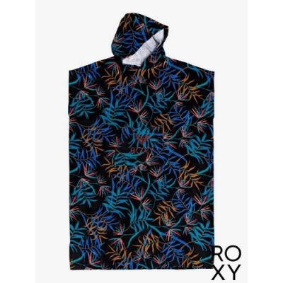 【ROXY】STAY MAGICAL PRINTED 浴巾衣 黑色