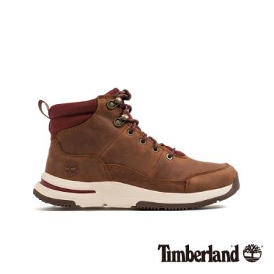 Timberland 女款中棕色全粒面登山靴|A24ZK