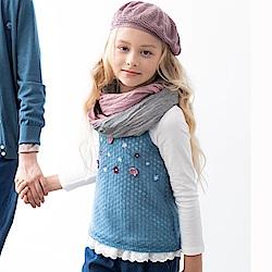 PIPPY 兩件式仿毛線造型背心 藍