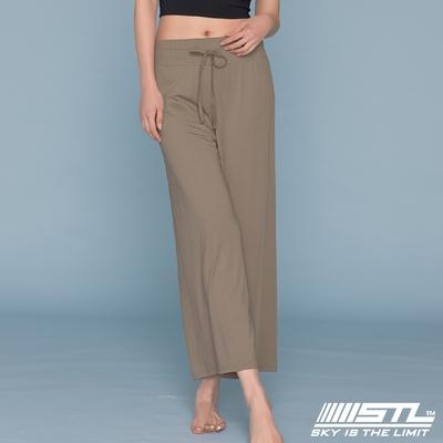 STL yoga ESSENCE Light Quick Dry 韓國瑜珈 運動機能 加長加寬 本質落地寬舒服褲 可可棕MildCacao