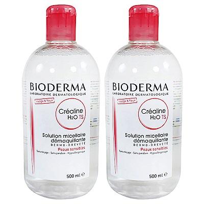 Bioderma貝膚黛瑪 舒敏高效潔膚液(加強保濕) 500ml 雙瓶組